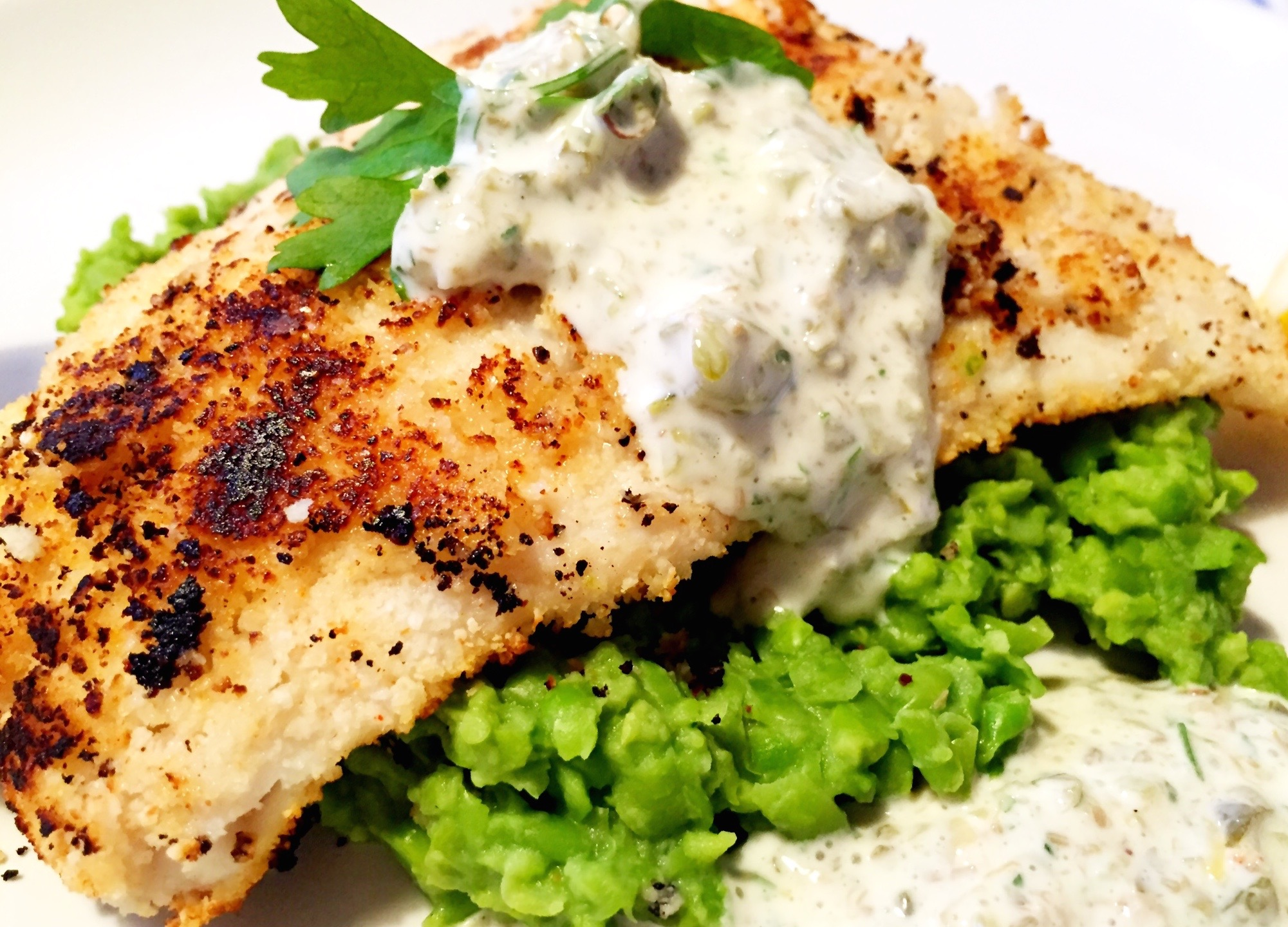 Crispy cod and tartar sauce the little green spoon for How to make tartar sauce for fish fillet