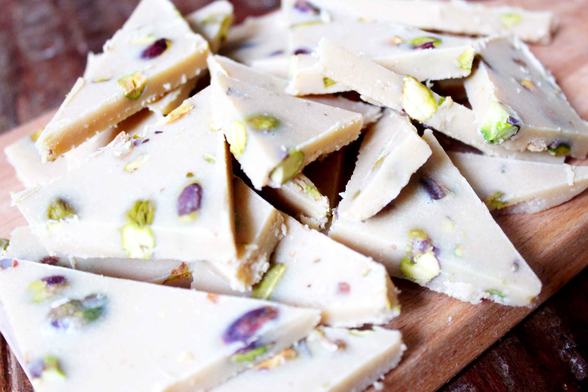 White Chocolate Bark with Salted Pistachios