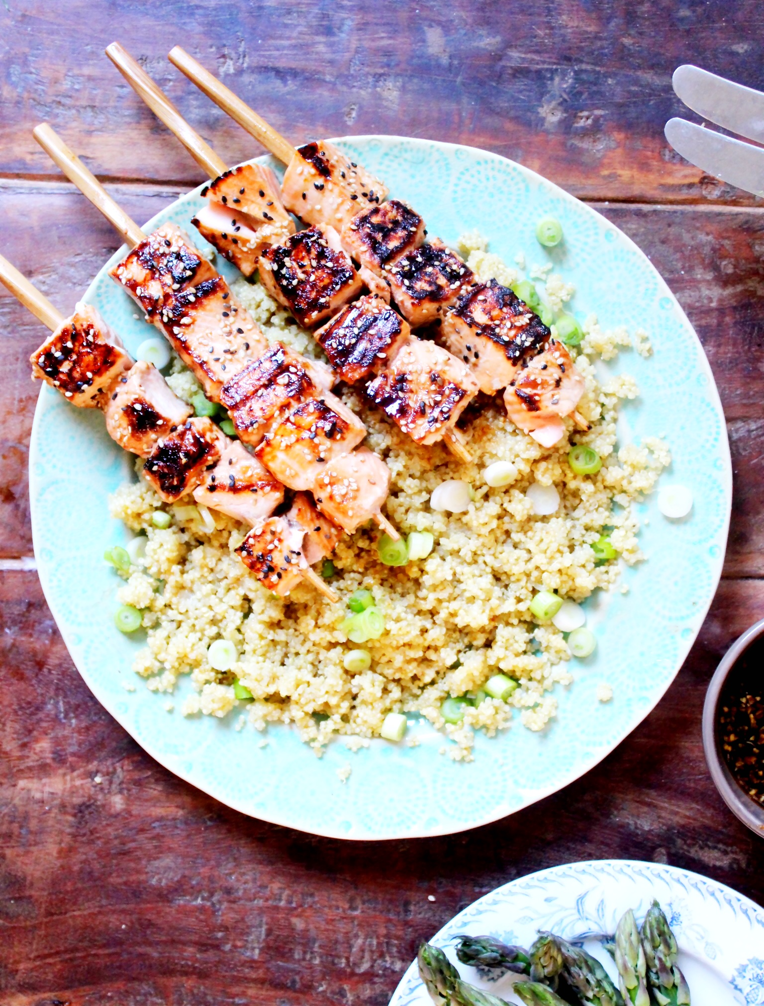 Zoes Kitchen Salmon Kabobs Recipe