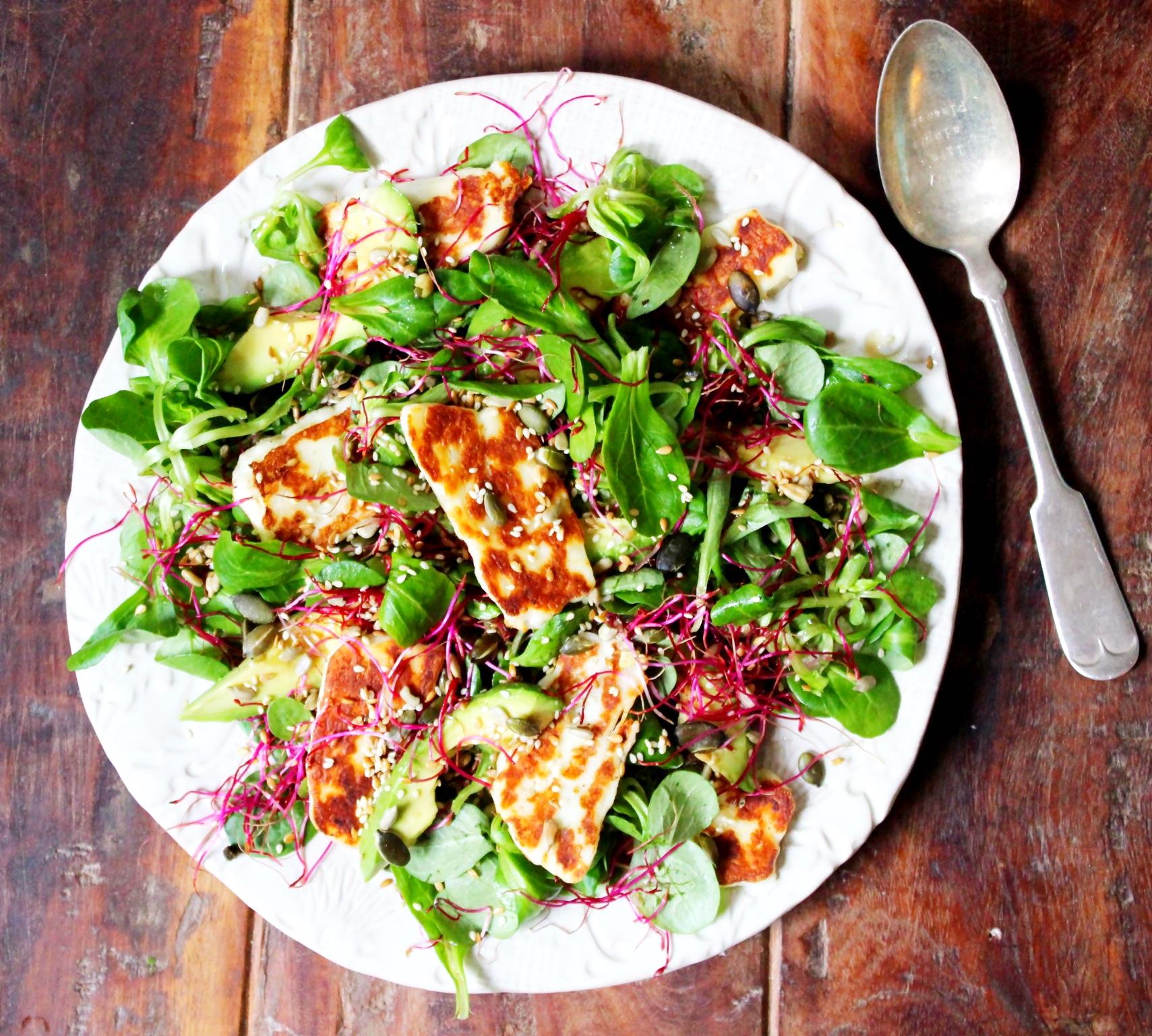 Halloumi, Avocado & Lime Salad - The Little Green Spoon