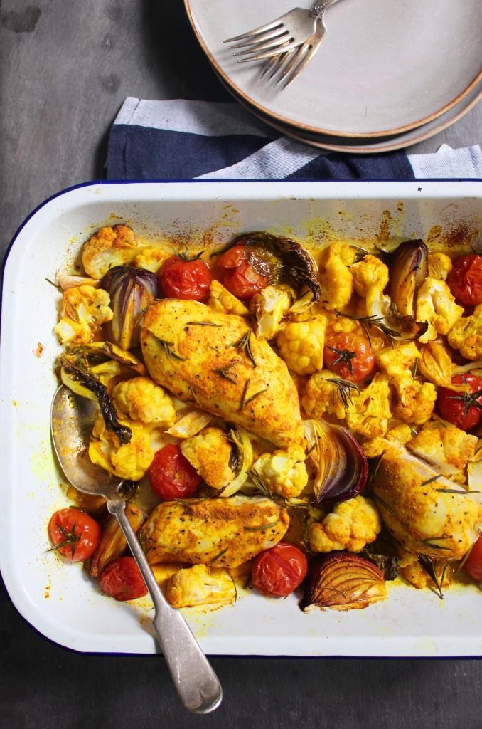 One Tray Turmeric Chicken2