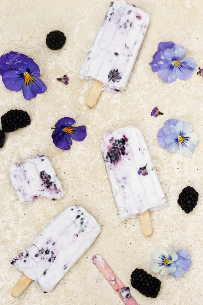 Blackberry Cream Popsicles 2
