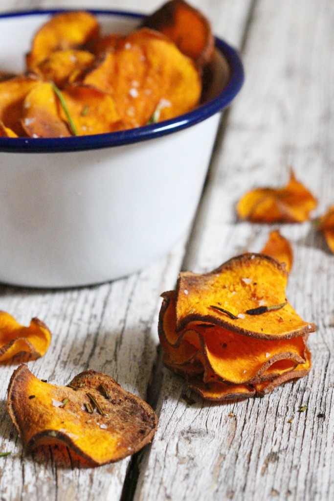 Rosemary sweet potato crisps 6