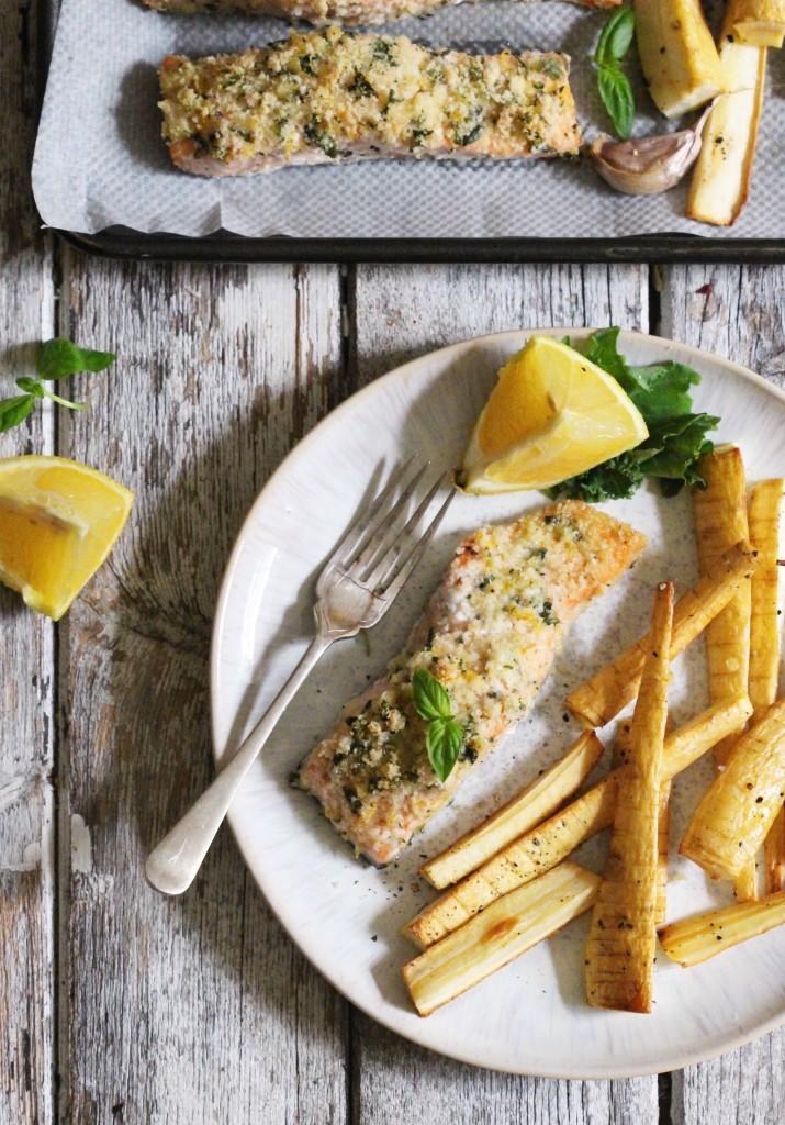 Basil Crusted Salmon 3
