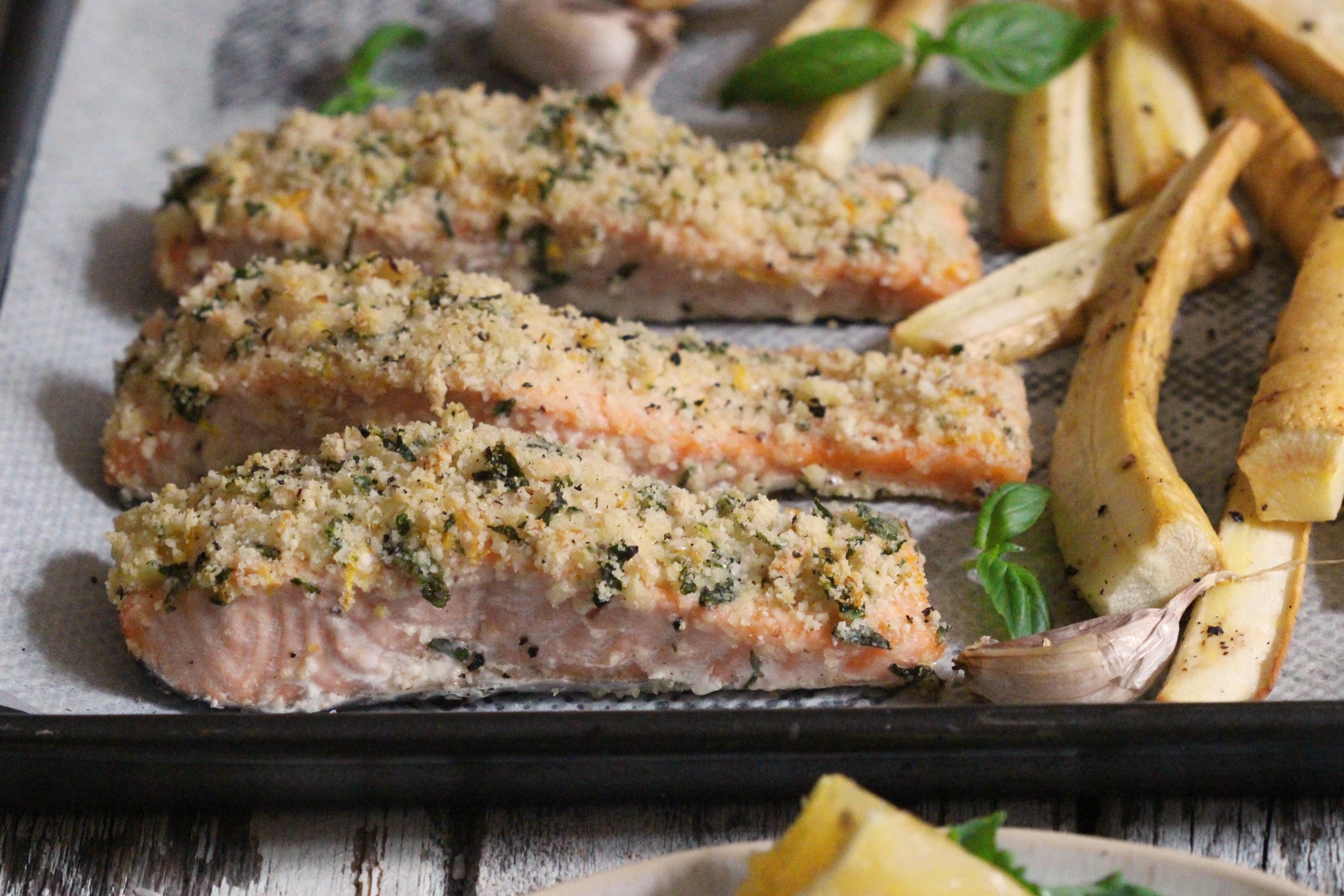Basil Crusted Salmon 4