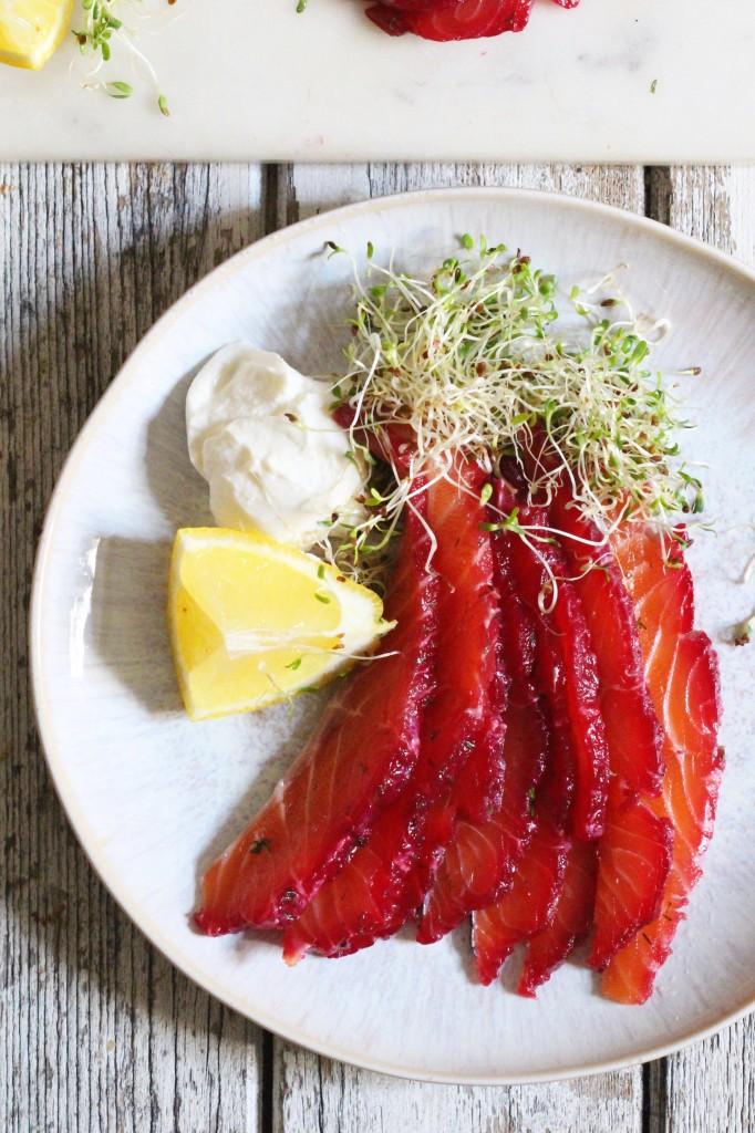 Beetroot Salmon Gravlax 4