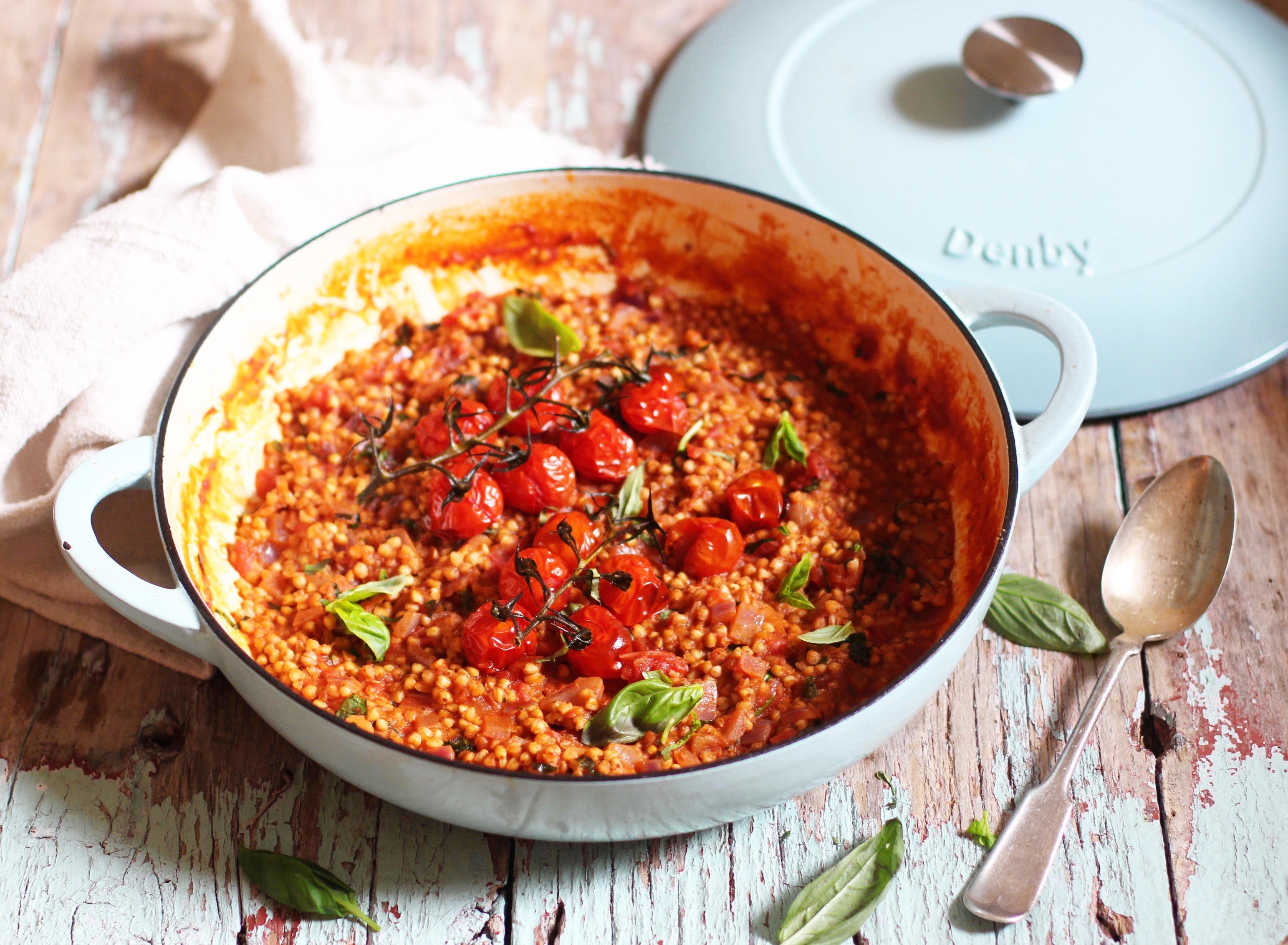Tomato Basil Buckwheat Risotto Denby 2