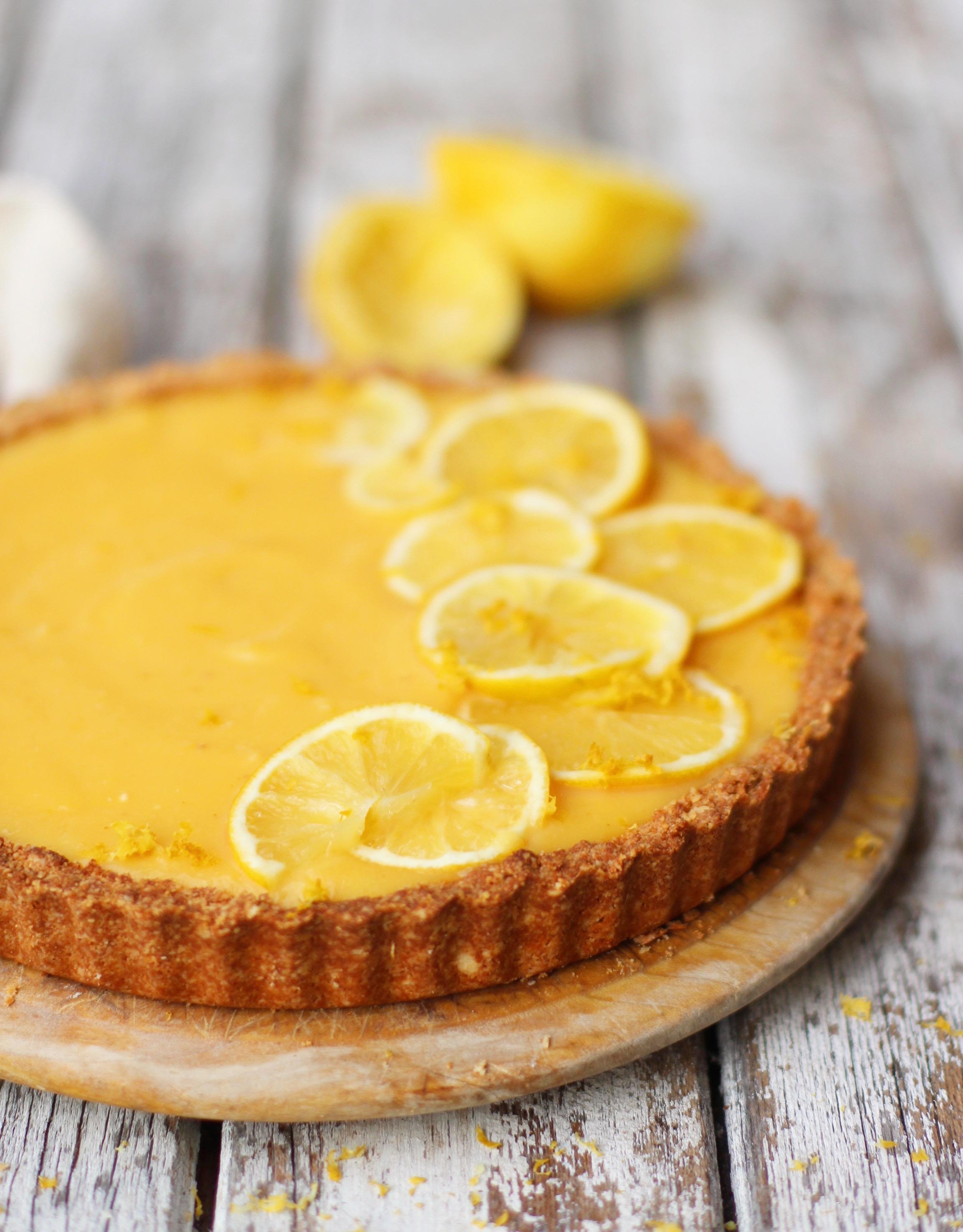 how to make lemon tart with lemon curd