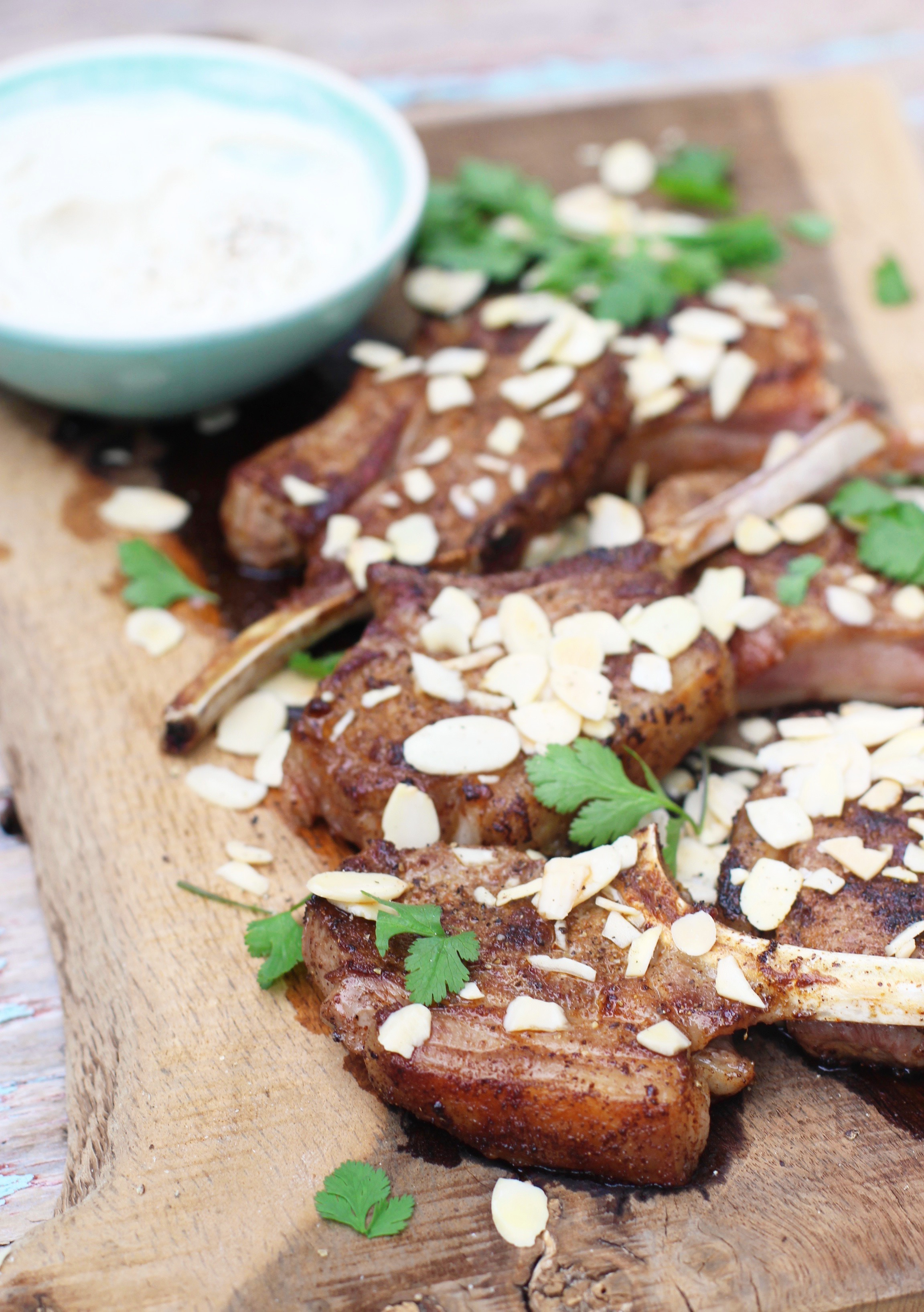Middle Eastern Lamb Cutelts with Almonds & Tahini 6