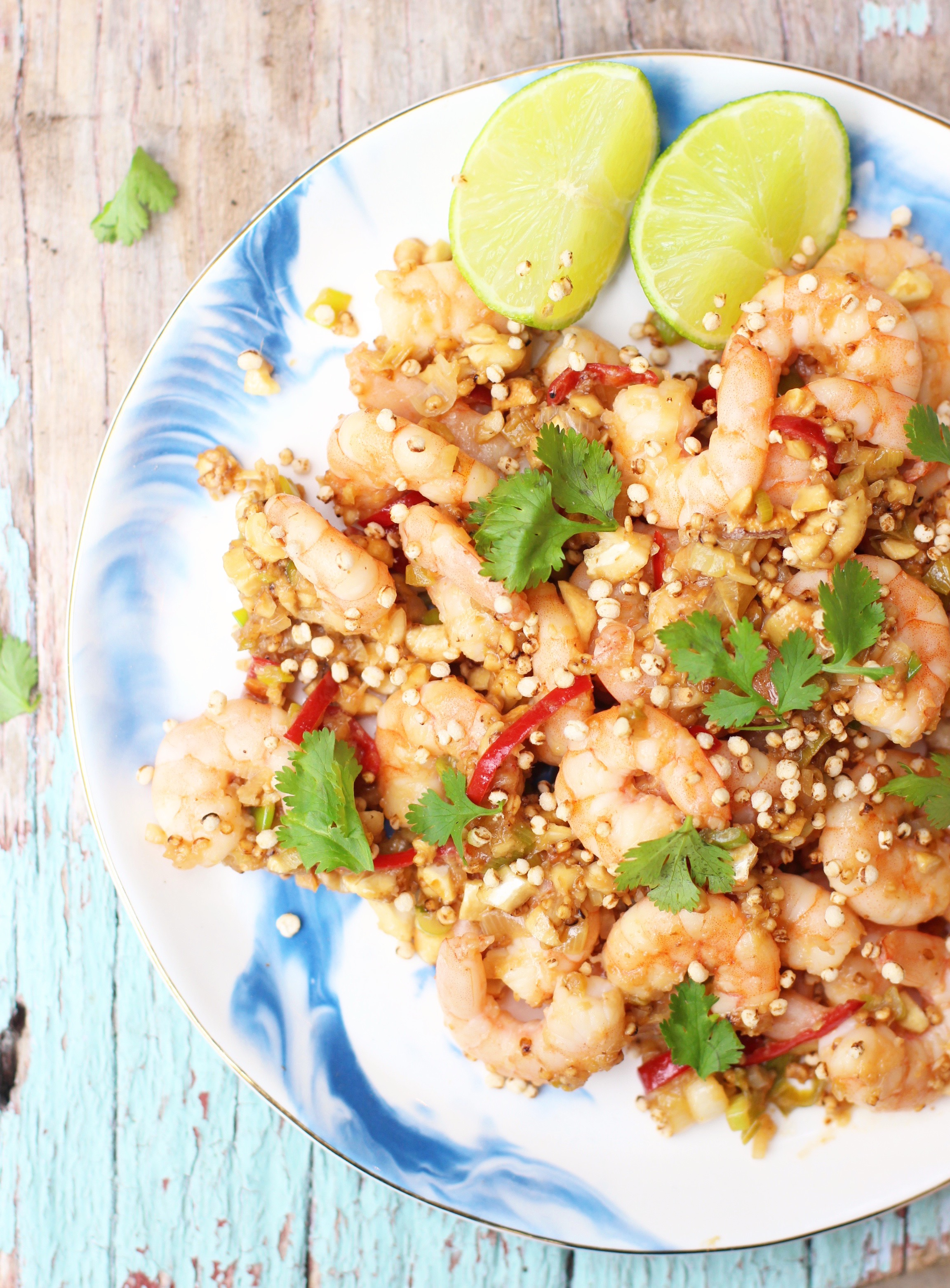 Lime & Ginger Prawns with Toasted Quinoa 2