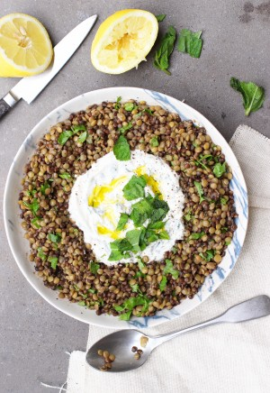 Lentils with Mint Yoghurt 3