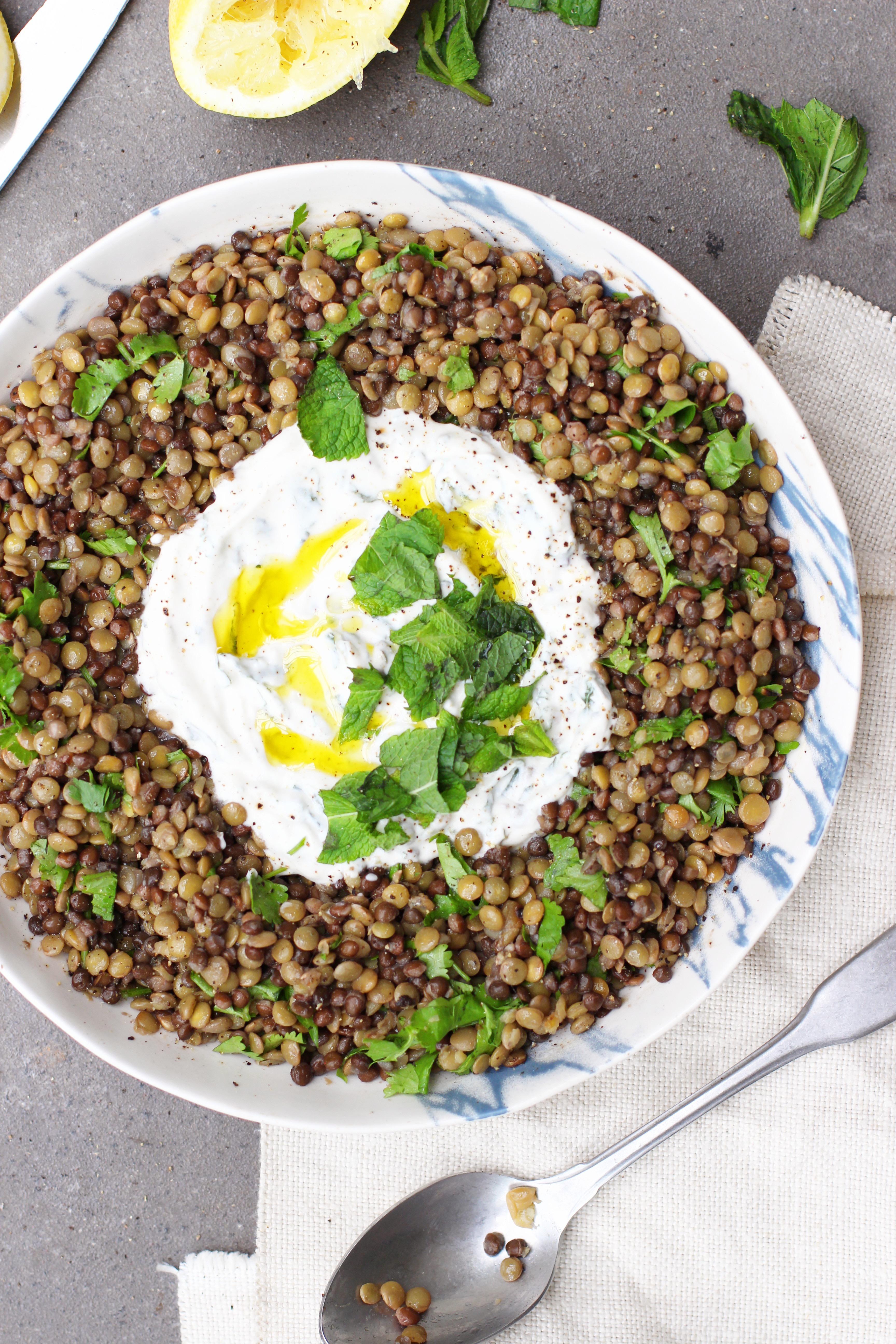 Lentils with Mint Yoghurt 4