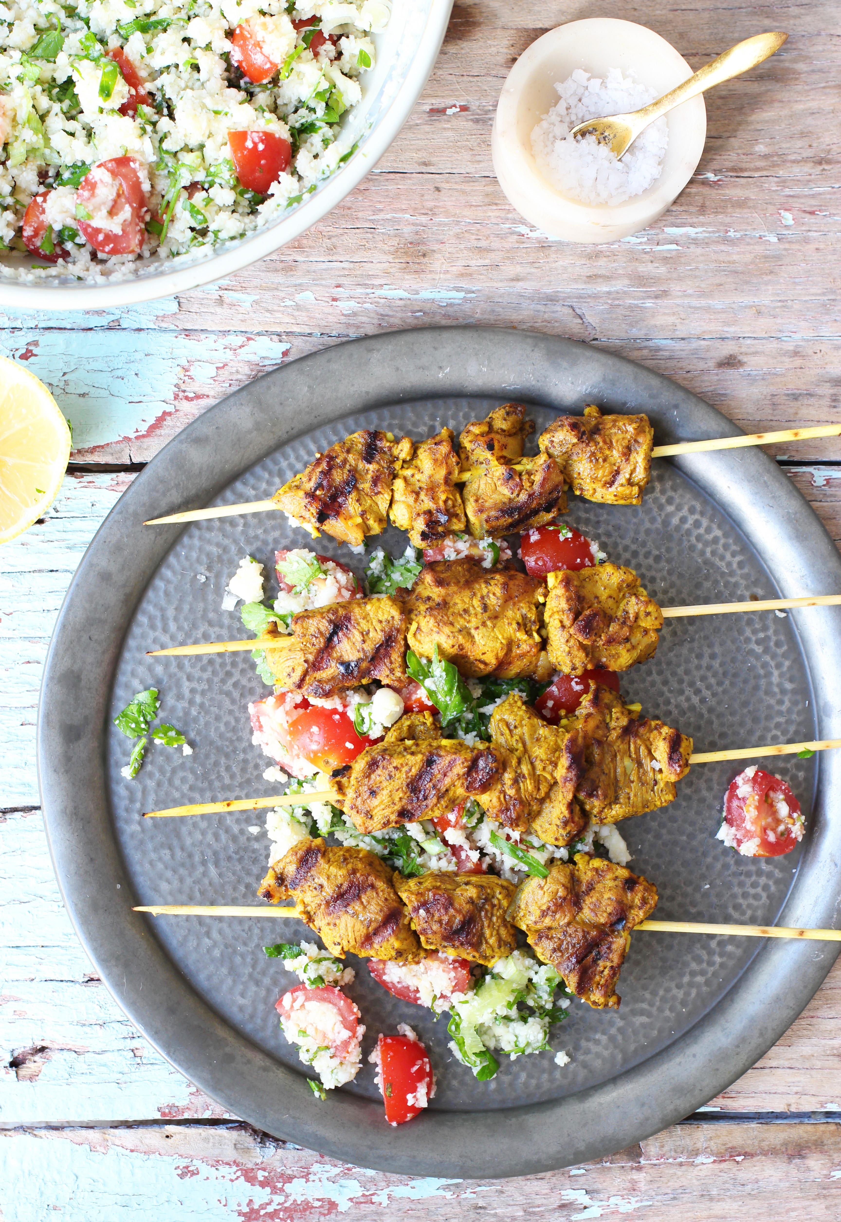 Lamb Kebabs with Cauliflower Tabbouleh 1